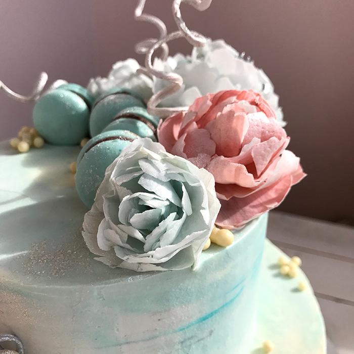 Цветы из вафельной бумаги своими руками 70